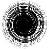 Geometrische gespannen spiraalvormige vorm Werveling, draaikolk met geweven concent vector illustratie