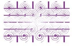 Geometrische gewundene Verzierung Lizenzfreie Stockbilder