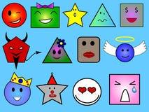 Geometrische gezichten Royalty-vrije Stock Foto's