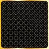 Geometrische gouden vierkanten op zwarte achtergrond Stock Fotografie