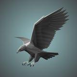 Geometrische grijze adelaar Stock Fotografie