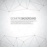 Geometrische grijze Molecule en mededeling als achtergrond voor uw ontwerp en uw tekst Royalty-vrije Stock Foto's