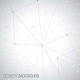 Geometrische grijze Molecule en mededeling als achtergrond voor uw ontwerp en uw tekst Stock Foto