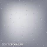 Geometrische grijze Molecule en mededeling als achtergrond voor uw ontwerp en uw tekst Stock Fotografie