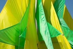 Geometrische groene gele lissen Royalty-vrije Stock Afbeelding