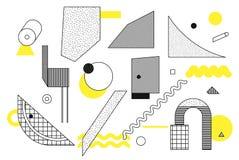 Geometrische Halbtonformen der Universaltendenz eingestellt Stockbild