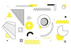 Geometrische Halbtonformen der Universaltendenz eingestellt Lizenzfreies Stockbild