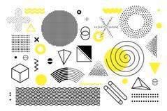 Geometrische Halbtonformen der Universaltendenz eingestellt Lizenzfreie Stockfotografie