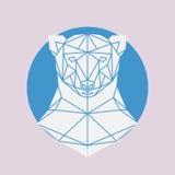 Geometrische Hauptlinien Schattenbild des Eisbären Stockbild