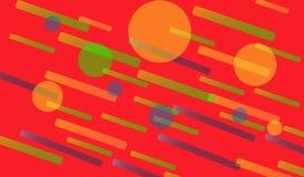 Geometrische heldere kleuren als achtergrond en dynamische vormsamenstellingen Vector graphhics royalty-vrije illustratie