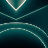 Geometrische het document van de vormenorigami groenachtig blauwe symmetrie Royalty-vrije Stock Foto