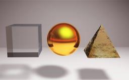 Geometrische het metaalachtergrond van de kristalsteen Royalty-vrije Stock Fotografie