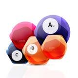 Geometrische hexagon aquaelementen royalty-vrije stock afbeeldingen