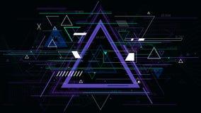 Geometrische Hintergründe des futuristischen abstrakten Dreiecks der Technologie, Sciencefictionsvektorillustration lizenzfreie abbildung