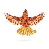 Geometrische hoofd het vliegen abstracte kleur Stock Afbeelding