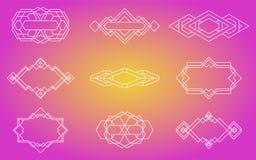 Geometrische Ikonen, Zeichen, Aufkleber, stockfotografie