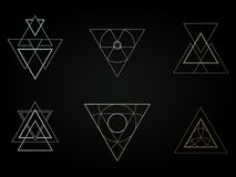 Geometrische Ikonen, Zeichen, Aufkleber, lizenzfreies stockbild