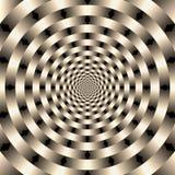 Geometrische illusiesachtergrond Royalty-vrije Stock Afbeeldingen