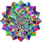Geometrische illusiesachtergrond Stock Afbeeldingen