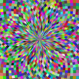 Geometrische illusiesachtergrond Stock Foto's
