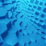 Geometrische kleuren abstracte veelhoeken, als barstmuur Binnenland 12 Stock Foto