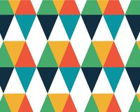 Geometrische kleuren hipster achtergrond als achtergrond met een gekleurde diamant stock illustratie