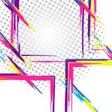 Geometrische kleurrijke collage stock illustratie