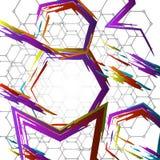Geometrische kleurrijke collage vector illustratie