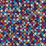 Geometrische kleurrijke geregelde labyrintachtergrond, vector ruitvormige seaml Royalty-vrije Stock Afbeeldingen