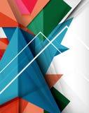 Geometrische kleurrijke vormen abstracte achtergrond stock illustratie