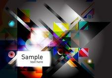 Geometrische kleurrijke vormenachtergrond Stock Foto's
