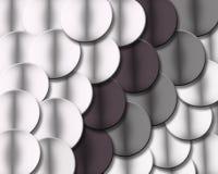 Geometrische Kreise in den Schatten des Graus Lizenzfreies Stockfoto