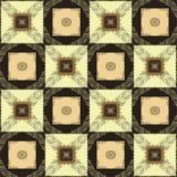 Geometrische lapwerkornamenten met grunge gestreepte vierkanten royalty-vrije illustratie