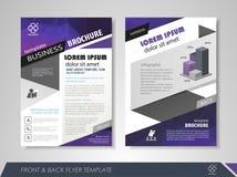 Geometrische lay-out van pamflet Royalty-vrije Stock Afbeeldingen