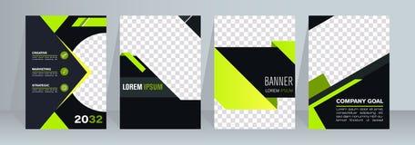 Geometrische lay-out van pamflet Creatief malplaatje Abstracte geometrische achtergrondpamfletlay-out stock illustratie