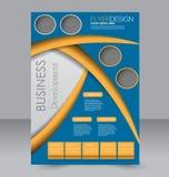 Geometrische lay-out van pamflet Vliegermalplaatje Editablea4 affiche Royalty-vrije Stock Foto's