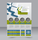Geometrische lay-out van pamflet Vliegermalplaatje Editablea4 affiche Stock Afbeelding