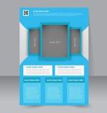 Geometrische lay-out van pamflet Vliegermalplaatje Editablea4 affiche Royalty-vrije Stock Afbeeldingen