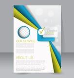 Geometrische lay-out van pamflet Vliegermalplaatje Editablea4 affiche Stock Foto