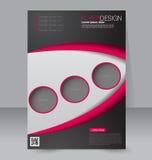 Geometrische lay-out van pamflet Vliegermalplaatje Editablea4 affiche Stock Afbeeldingen