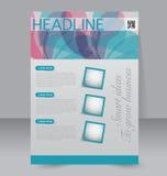 Geometrische lay-out van pamflet Vliegermalplaatje Editablea4 affiche Royalty-vrije Stock Fotografie