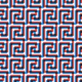 Geometrische lijn abstract naadloos patroon met Grieks antiek motief royalty-vrije illustratie