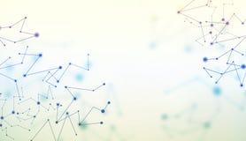 Geometrische Linien Hintergrund der abstrakten Technologie Lizenzfreie Stockfotografie