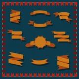 Geometrische linten voor uitdrukkingen Stock Foto