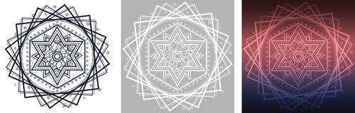 Geometrische Mandala mit Davidsstern in der Mitte Lizenzfreies Stockfoto