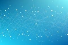 Geometrische moderne achtergrond van vliegende driehoeken Verbonden driehoeken vlecht Achtergrond voor uw ontwerp Vector illustra Royalty-vrije Stock Foto's