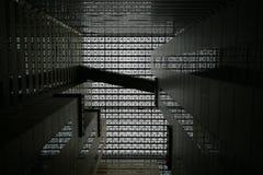 Geometrische Muster auf dem Dach Stockfoto