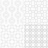 Geometrische Muster Satz hellgraue und weiße nahtlose Hintergründe Stockfoto