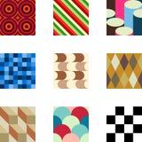 Geometrische Muster stellten 2 ein Lizenzfreie Stockbilder