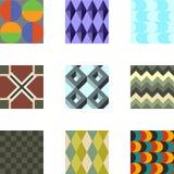 Geometrische Muster stellten 3 ein Lizenzfreies Stockbild